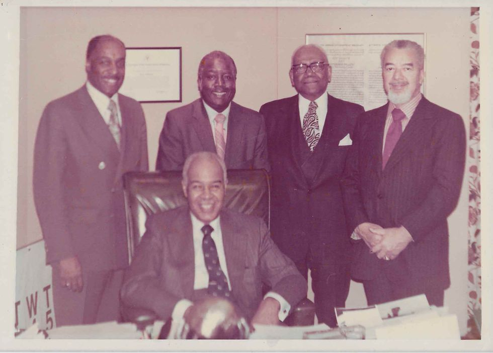 Judge Jones pictured with NAACP leadership in 1971.