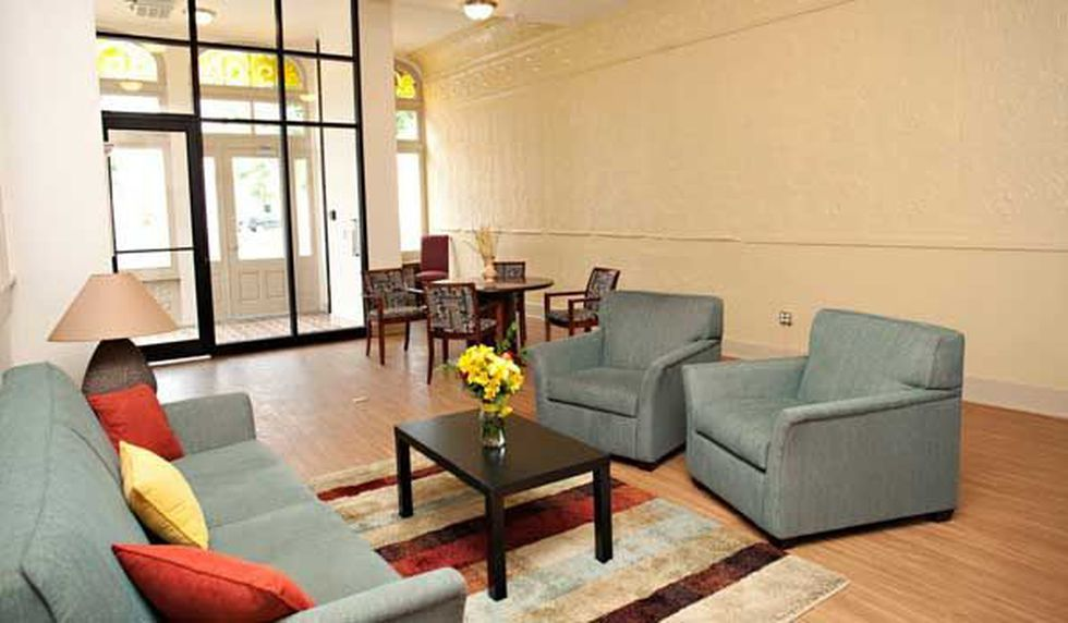 This sofa and these chairs were stolen. (Provided by OTR Community Housing Facebook page)