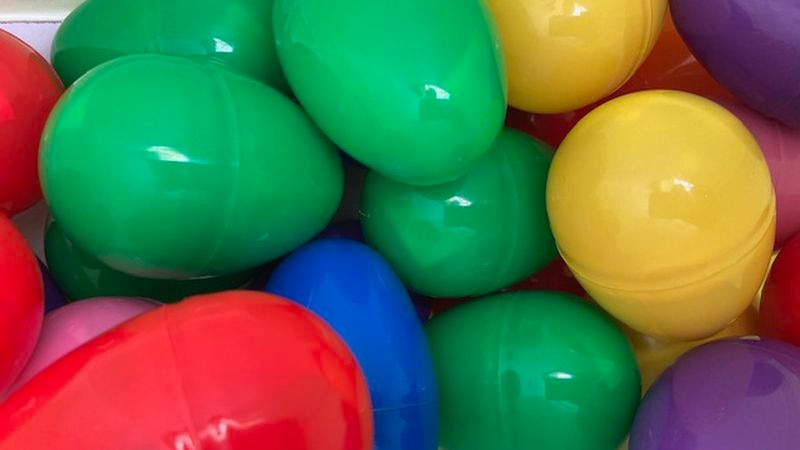 A veteran group is hiding Easter eggs for families for children to seek in the morning in...