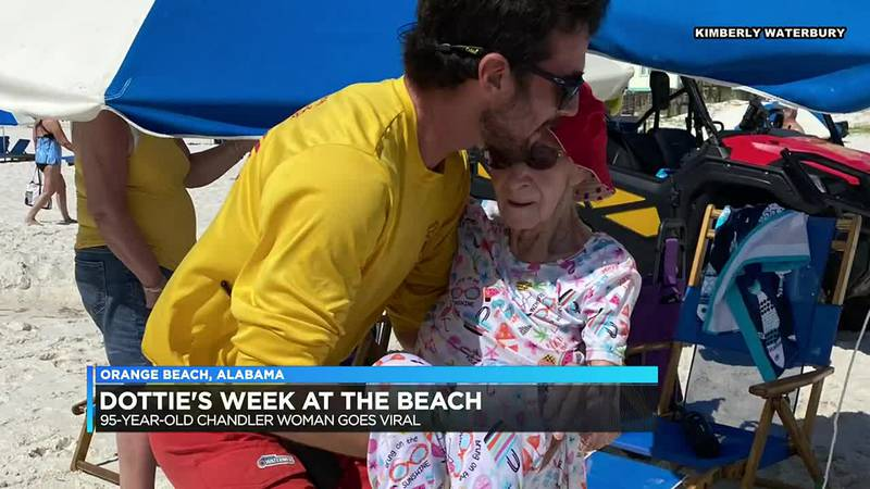 Warrick Co. woman's visit to the beach goes viral