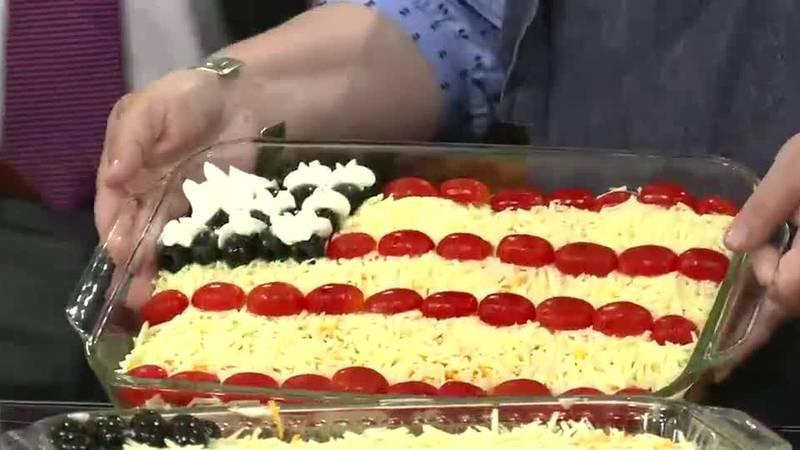 Karri Perry Blue Ribbon Favorites - Layered Taco Flag Dip