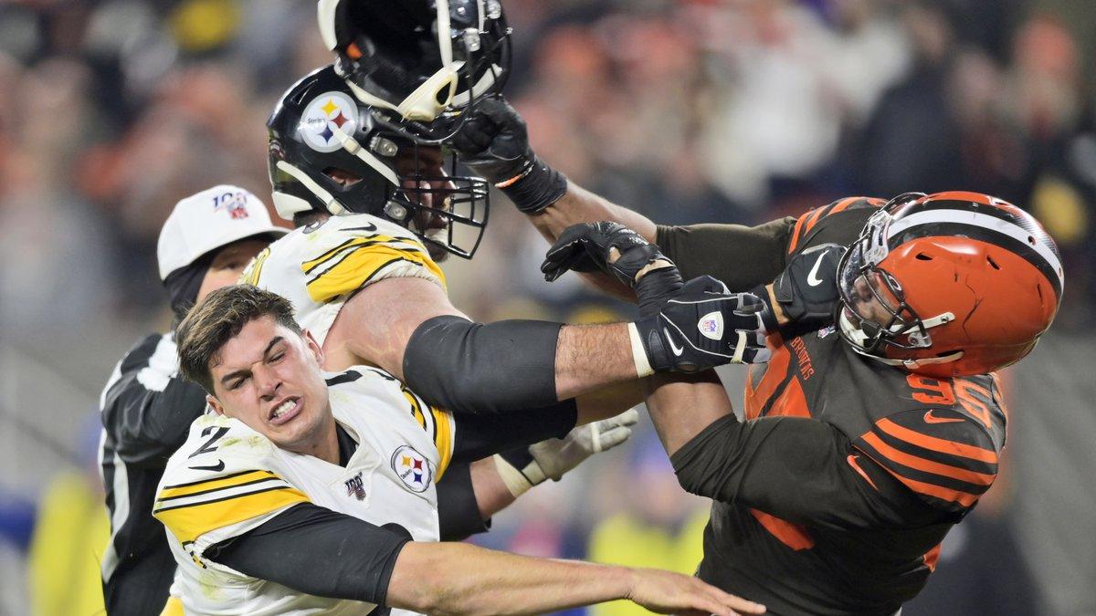 Myles Garrett missed Cleveland's final six games last season after his disturbing attack on...