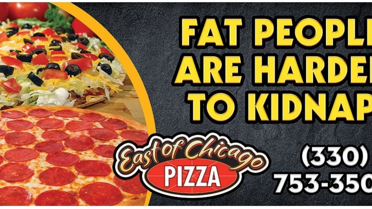 Billboard was up in Norton to advertise Barberton pizza shop.