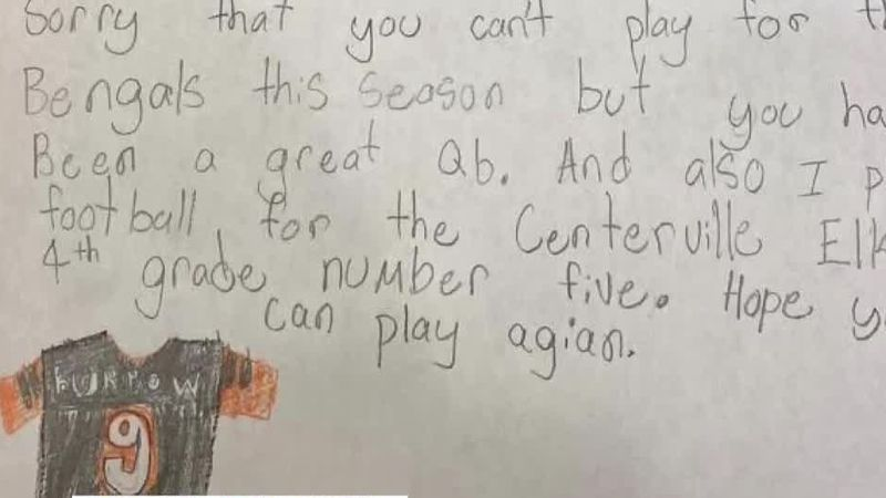 Get Well Soon: Young Bengals fan writes letter to Joe Burrow