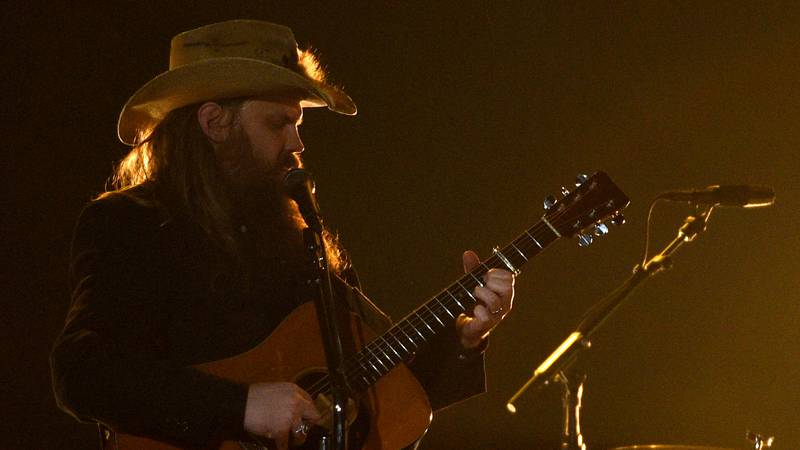 """Chris Stapleton performs """"A Simple Song"""" at the 54th annual Academy of Country Music Awards at..."""
