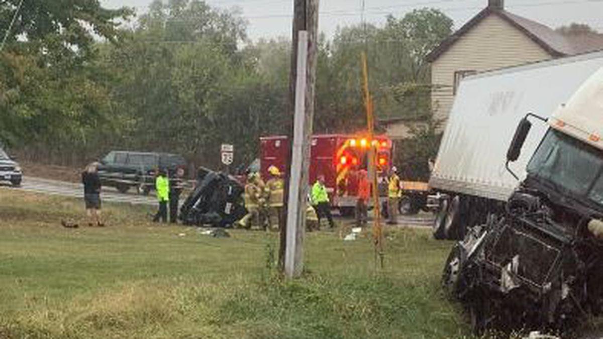 2 were killed in an accident involving a semi near Trenton.