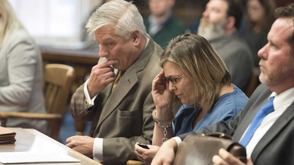 Angela Wagner appears in court for her role in the Pike County massacre.