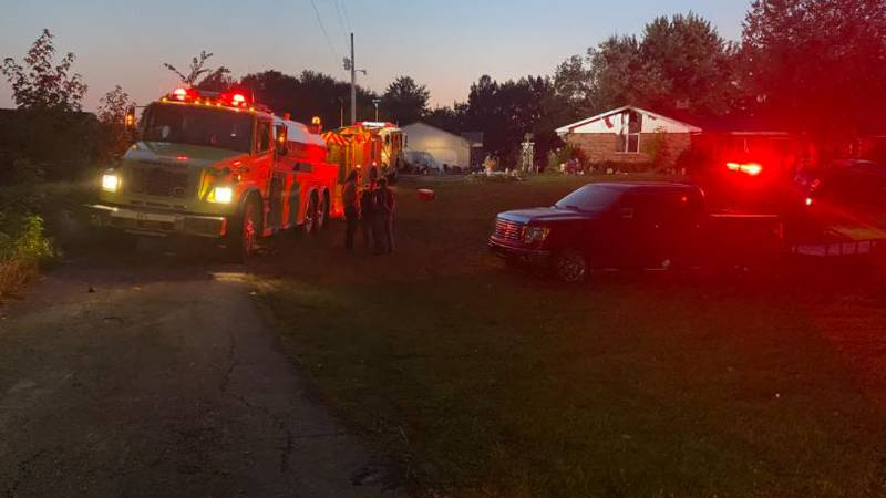 Authorities respond to an explosion in a home in Versailles, Indiana that resulted in one death.