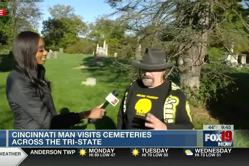 Cincinnati man visits cemeteries across Tri-State