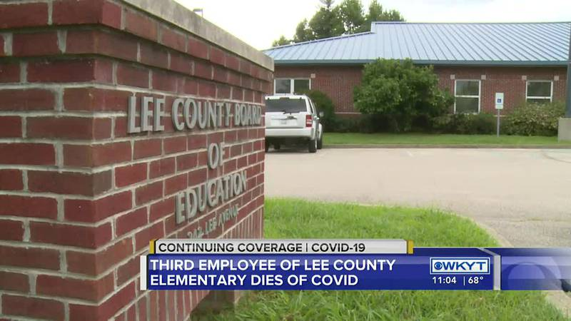 A Lee County Schools employee has died of COVID-19.