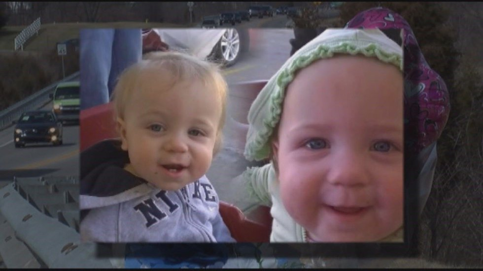The 13-month old twin victims of the accident. (Provided photos)
