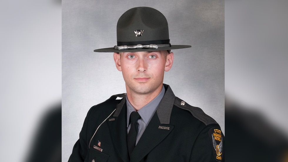 OSHP trooper Josef Brobst was shot during a traffic stop in Findlay on Wednesday, Oct. 6. His...