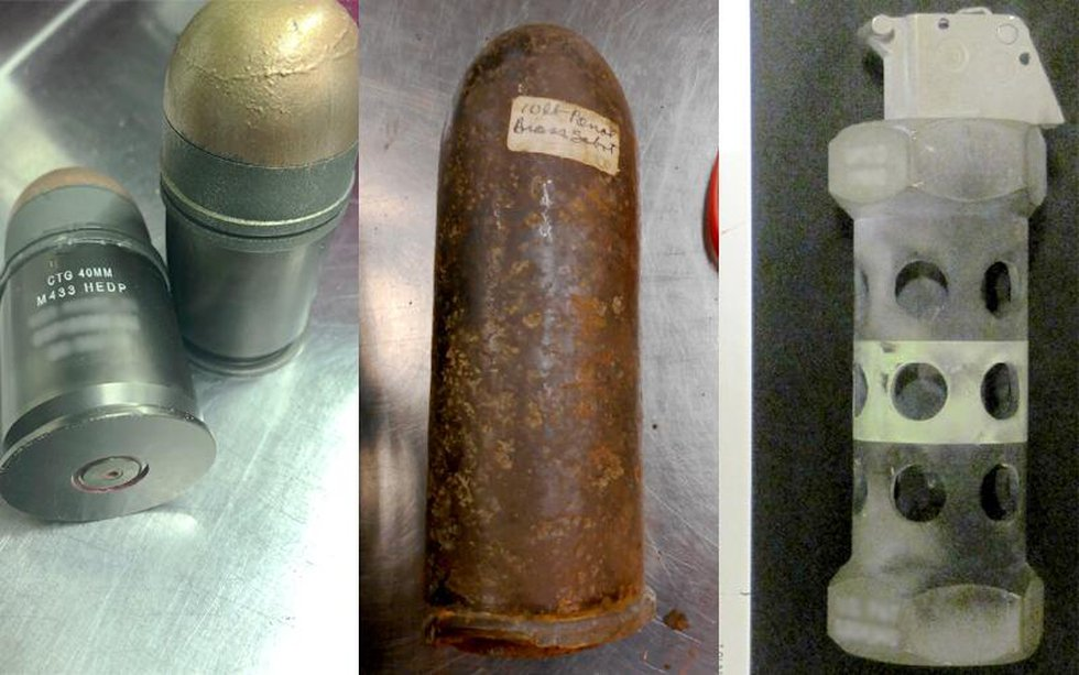These are just a few of the inert shells and grenades TSA agents found in people's carry-on...