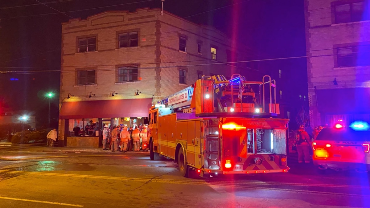 Fire crews responded to a fire in an apartment at 5818 Hamilton Avenue Thursday night.