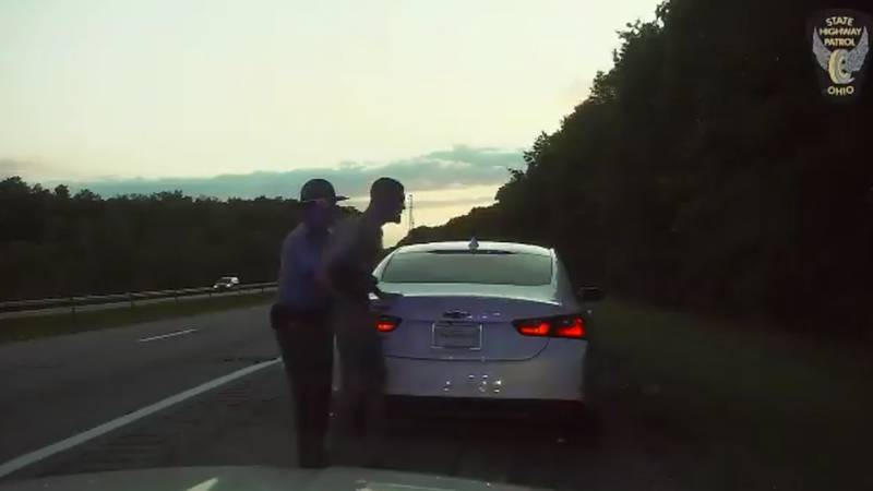 Trooper Charles Hoskin is credited with saving a man's life during a recent traffic stop.