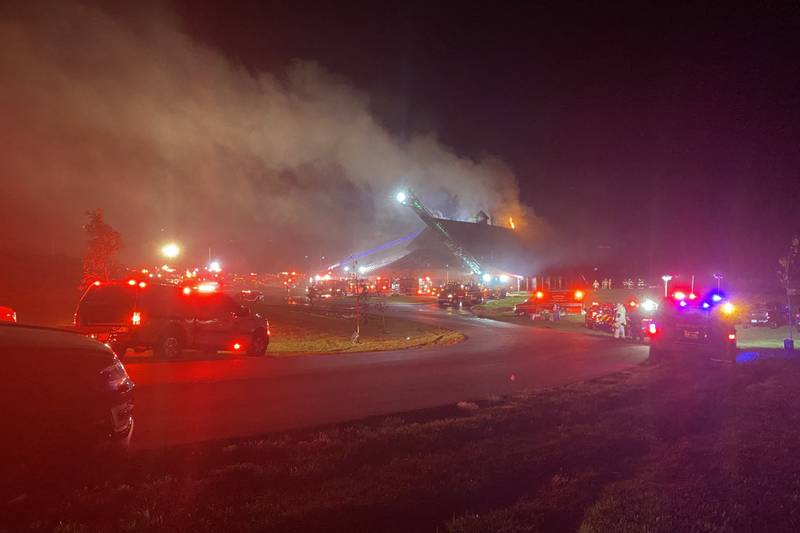 Fire officials are on scene early Monday of a fire that rekindled at a Butler County wedding...