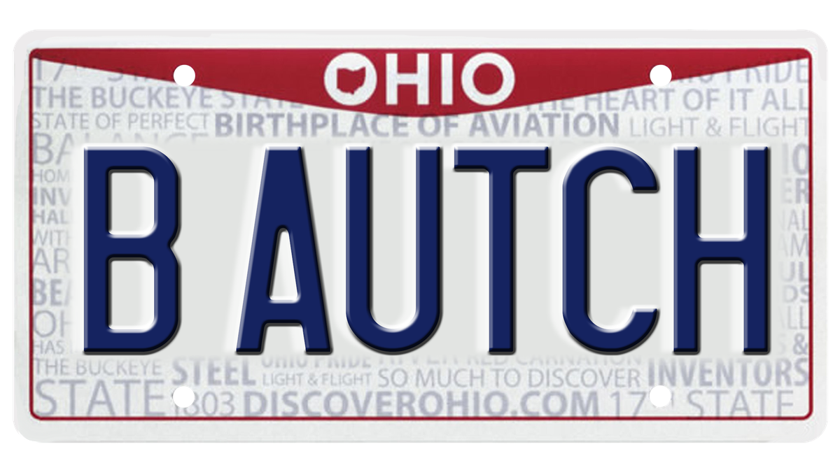 The Ohio BMV has rejected 1,700 plated so far this year, including B AUTCH
