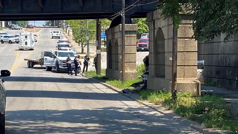 The crash happened around 12 p.m. Tuesday.