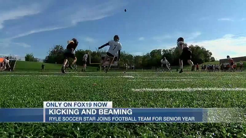Future DI soccer player kicks for Ryle football team