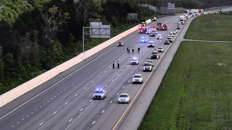 Ohio State Highway Patrol were at the scene of a shooting involving two vehicles on I-75 in...