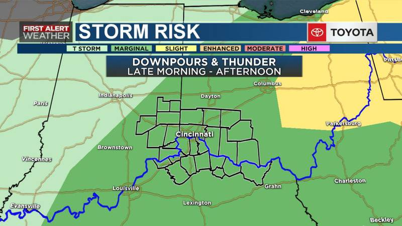 With the approaching cold front, showers and thunderstorms could move across the Tri-State.