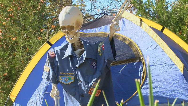 Camp Friedlander in Loveland is decked out with Halloween decorations for the...