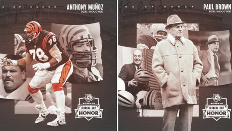 """The Cincinnati Bengals on Thursday announced the formation of a """"Ring of Honor"""" to recognize..."""