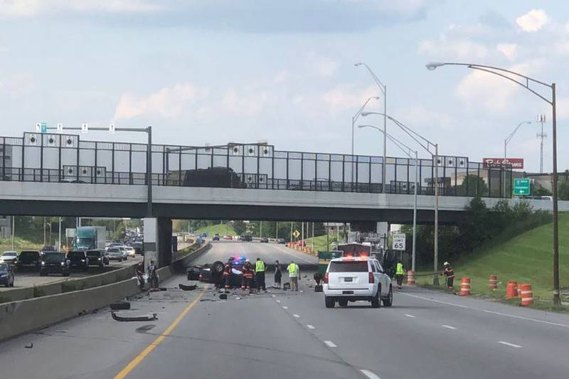 The sheriff's office said one person was killed in the accident.