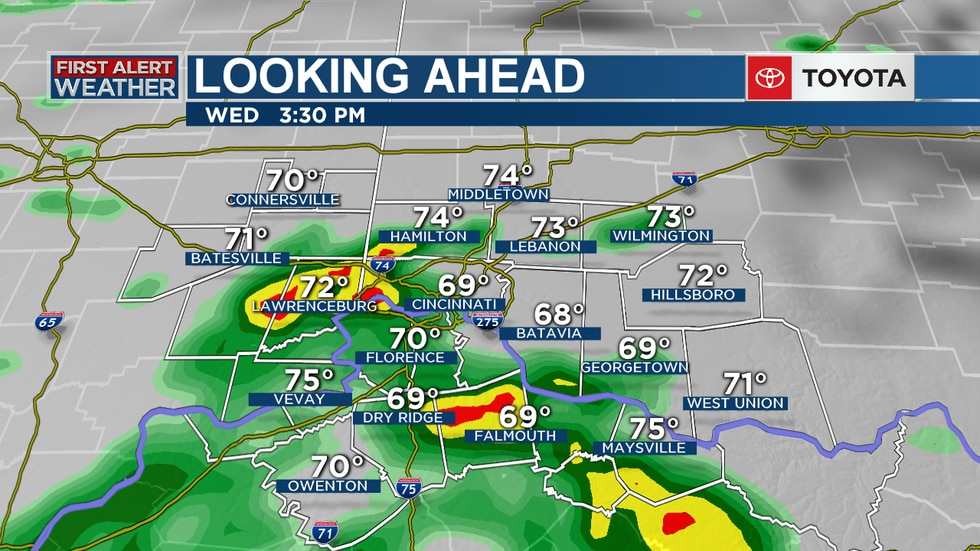 Rain is expected to start Wednesday afternoon.