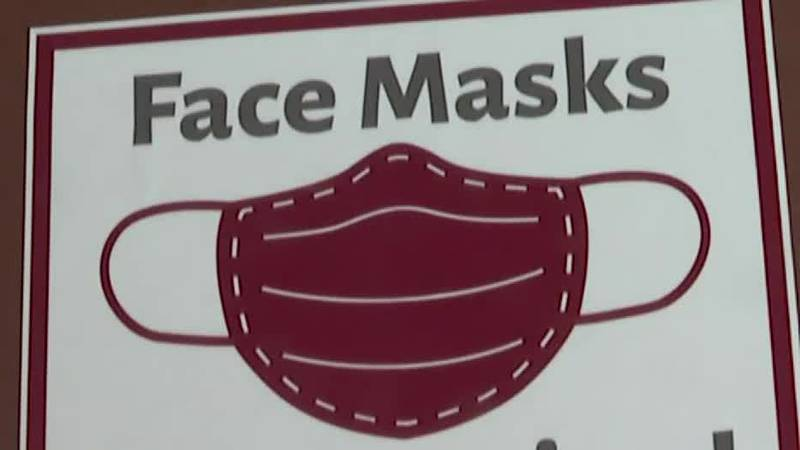 Gov. Mike DeWine says that nearly 58% of Ohio public school students are required to wear masks.