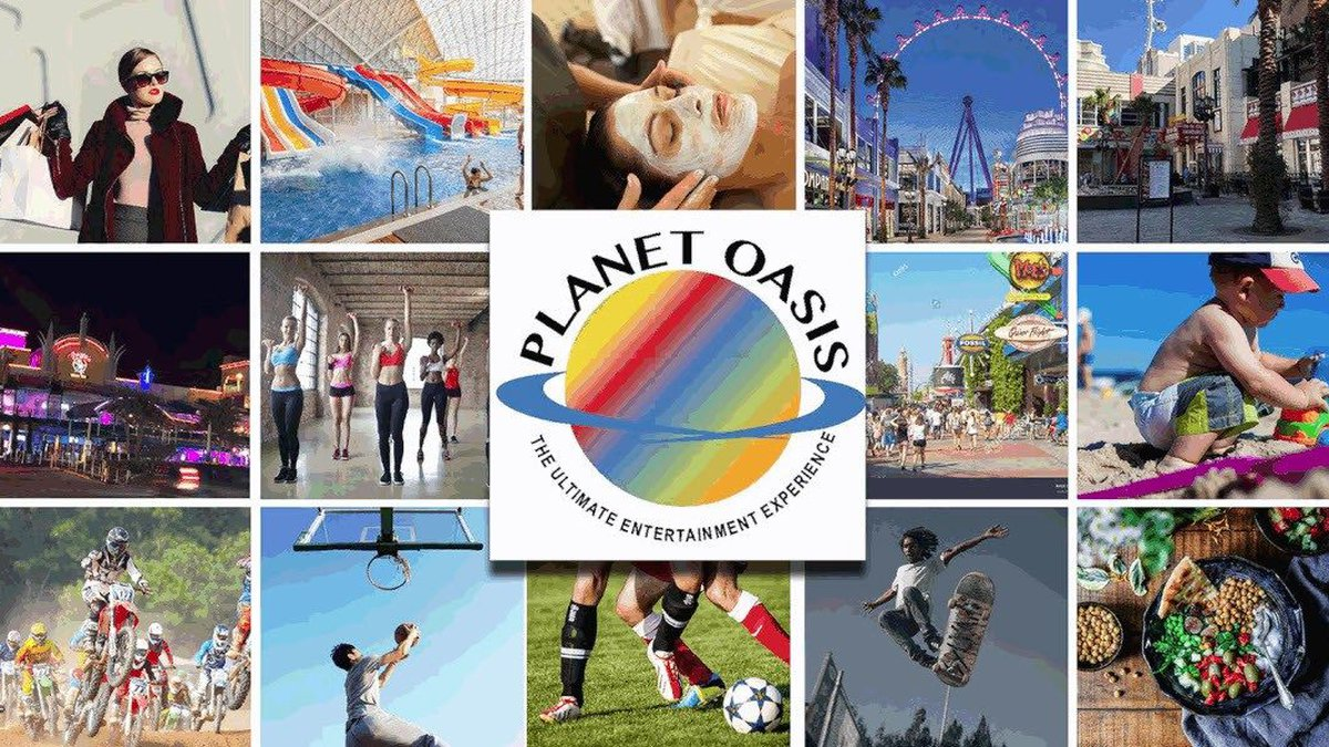 Blue Horseshoe Ventures say the project Planet Oasis will include indoor skydiving, a 20-acre...