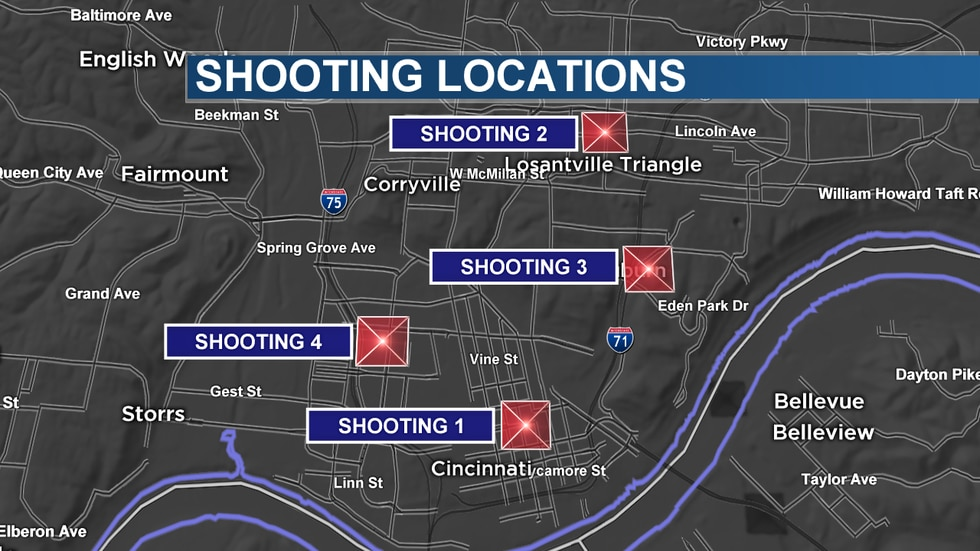 Cincinnati police are investigating four separate shootings on Sunday that left 3 dead and at...