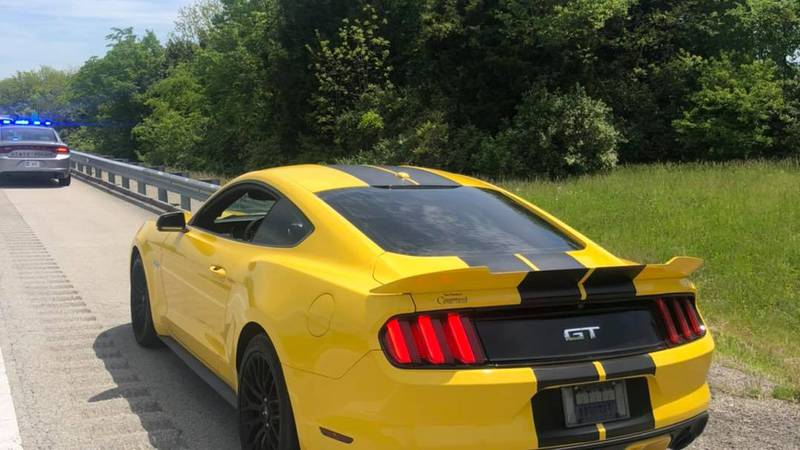 Police said the 2015 Ford Mustang was going 143 miles-per-hour in a 70 MPH zone.