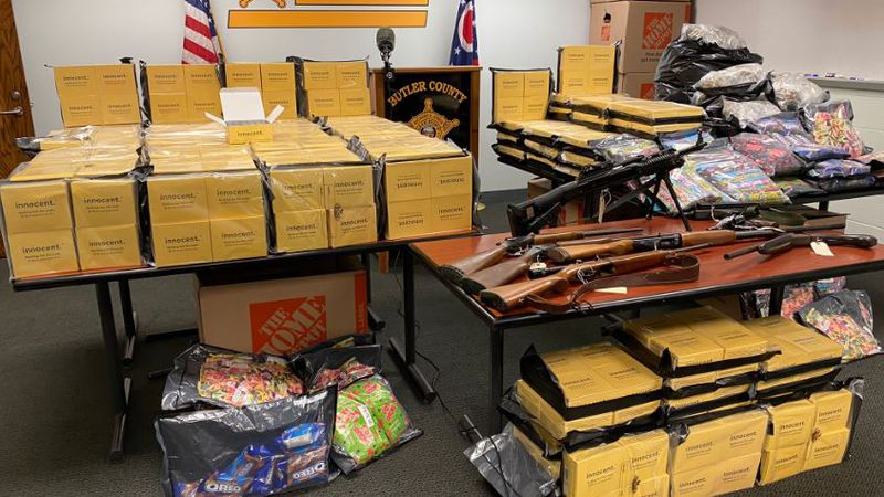 The street value of the confiscated narcotics is approximately 2.5 million dollars.
