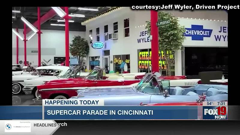Supercar Parade for Kids held at Union Terminal Sunday