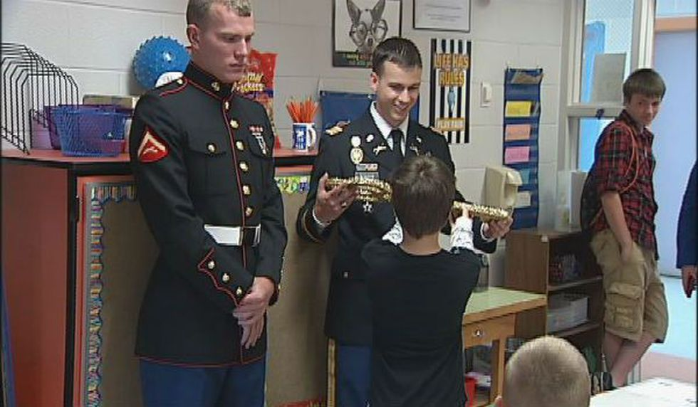 Local students finally meet their soldier pen pals