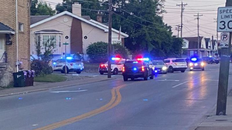 A suspect is firing at police in Covington.