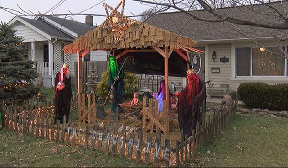 "Jasen Dixon's ""zombie"" nativity scene from last year (Photo: FOX19 NOW)"