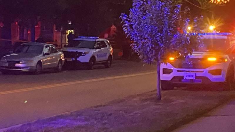 Cincinnati police at the scene of a fatal shooting in Roselawn.
