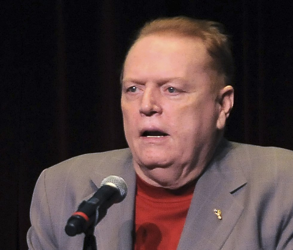 FILE - In this April 30, 2011 file photo, Larry Flynt speaks in Los Angeles, Calif. A federal...