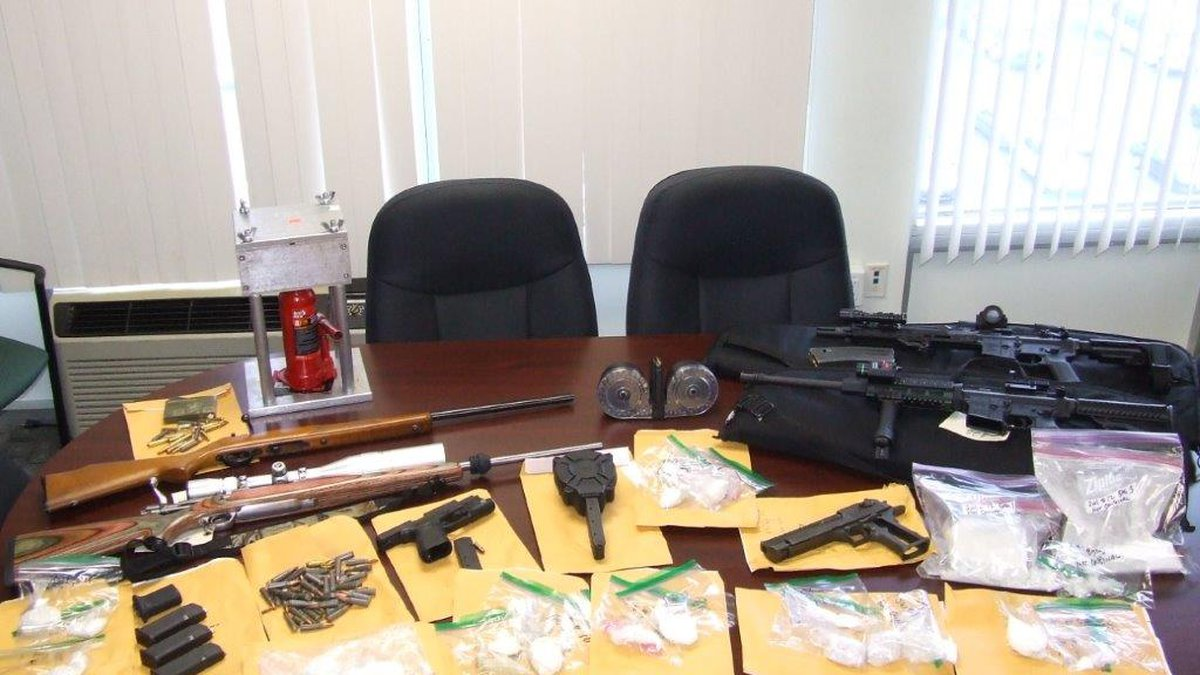 A total of $9,567, nearly four pounds of fentanyl and seven guns, two of which were stolen,...