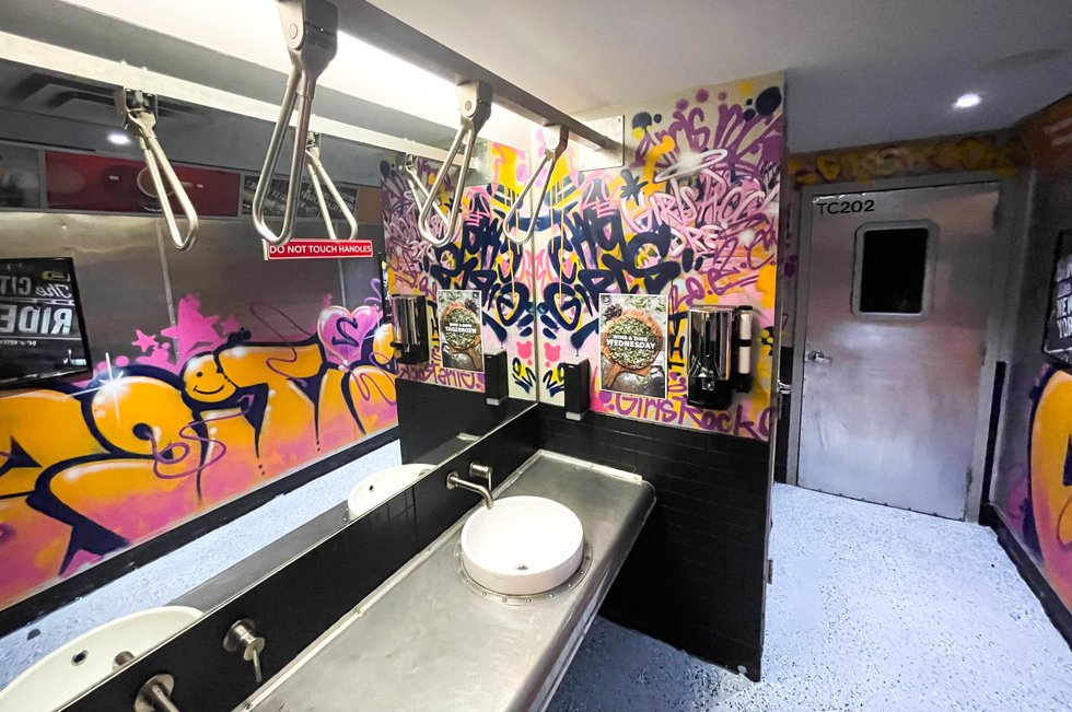 The metro-themed washroom earned Two Cities Pizza a spot in the bottom 10.