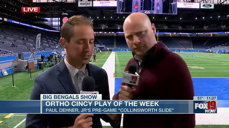 OrthoCinsational Play of the Week: Paul Dehner, JR's pre-game 'Collinsworth slide'