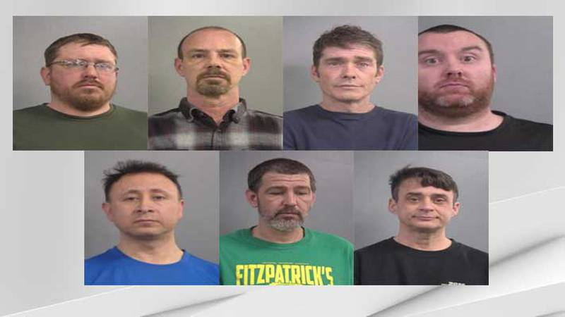 Louisville Metro police have charged these seven men with promoting human trafficking and...