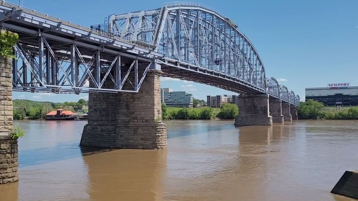 Part of the Purple People Bridge is temporarily closed due to a falling rock.