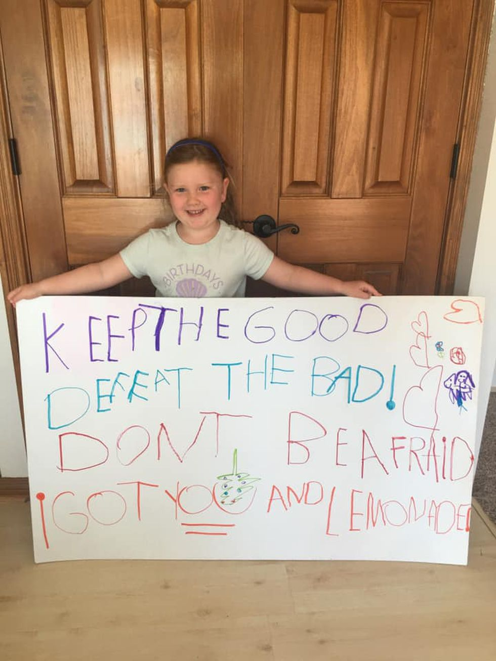 Eleanor Arens of Florence, Kentucky is using lemonade stand to stand against racism