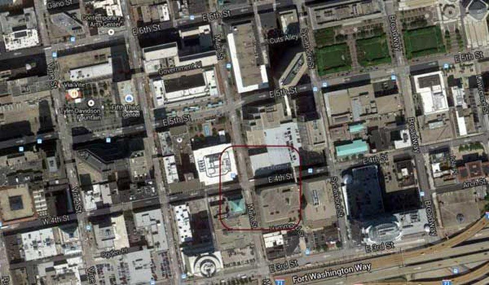 Map to parking garage