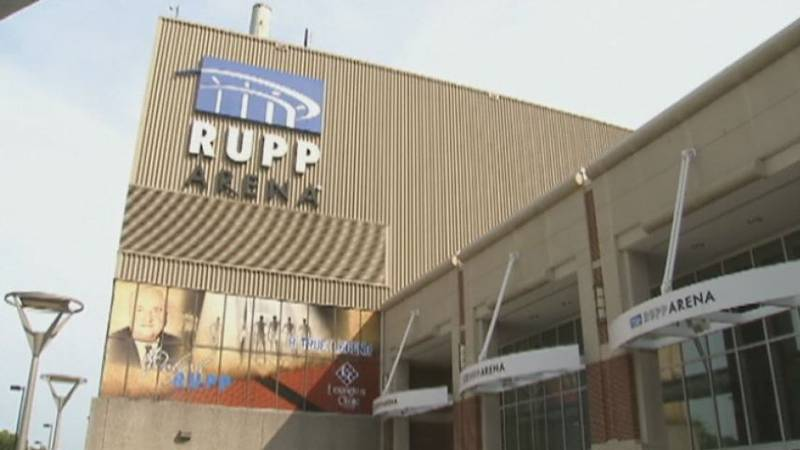 The current look of Rupp Arena.