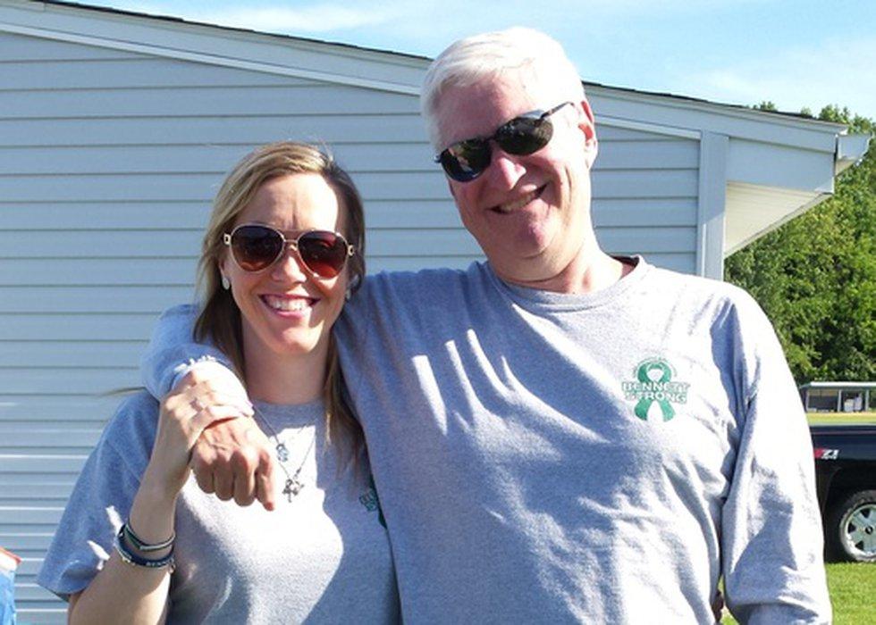 Dave Fleischer and his late daughter Sarah Bennett.