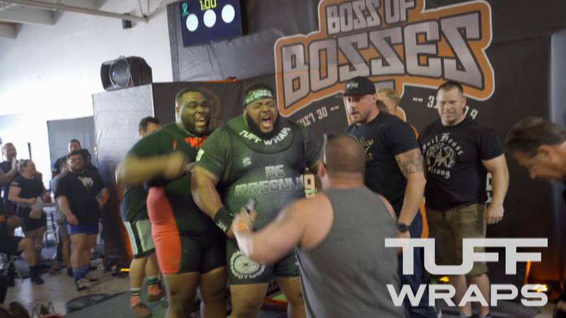 Julius Maddox breaks the world bench pressing record with 739.6 pounds